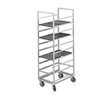 "Channel 437A End Loading Tray Rack w/ 40-Tray Capacity for 14x18"" Tray & 3"" Spacing, Aluminum"