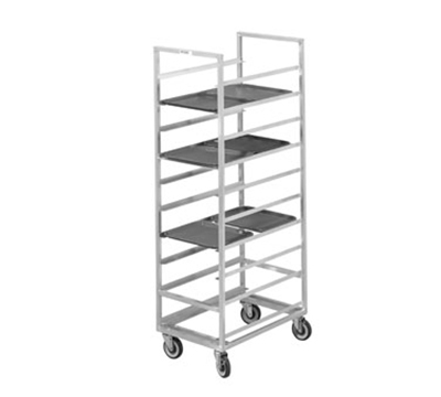 "Channel 446A End Loading Tray Rack w/ 30-Tray Capacity for 15x20"" Tray & 4"" Spacing, Aluminum"