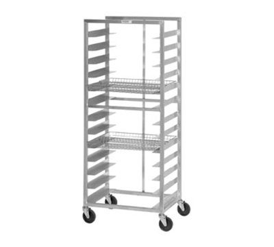"Channel 486DD Front Loading Donut Basket Rack w/ 13-Basket Capacity & 4.75"" Spacing, Aluminum"