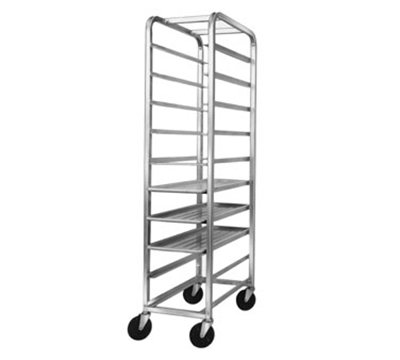 "Channel 521SP Platter Rack w/ 10-Platter Capacity for 18"" Platter & 6"" Spacing, Stainless"