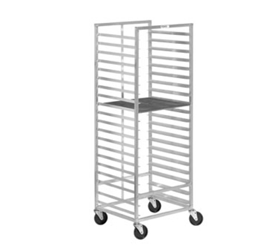 Channel 551A Donut Screen Rack w/ 15-Screen Capacity For 23x33-in Screen & 4-in Spacing, Aluminum