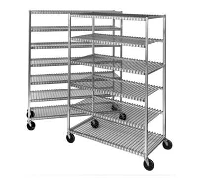 "Channel 568 Cooling Shelf Rack w/ 9"" Spacing & 7-Shelf, Aluminum"