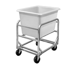 Channel 6SBC Bulk Poly Cart, Stainless