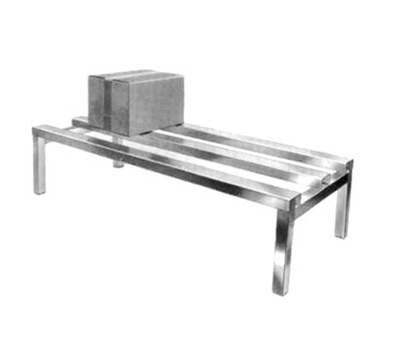 Channel ADR2048 Dunnage Rack w/ 2200-lb Capacity, 48x20-in, Aluminum