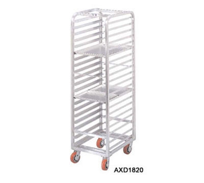 "Channel AXD1810 Front Loading Bun Pan Rack w/ 10-Pan Capacity & 6"" Spacing, Heavy Duty, Aluminum"