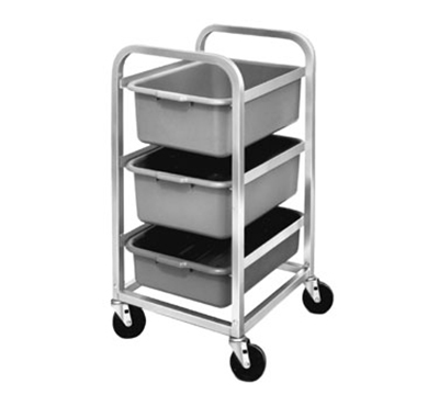 "Channel BBC-3 Bus Box Cart w/ 3-Shelf & 7"" Spacing, Aluminum"