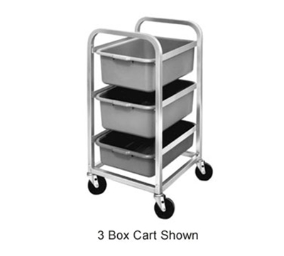 "Channel BBC-6 Bus Box Cart w/ 6-Shelf & 7"" Spacing, Aluminum"