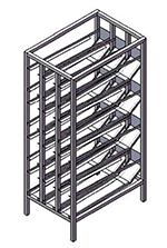 Channel CSR-156 Front Loading Stationary Can Rack w/ 156-Can Capacity, Aluminum