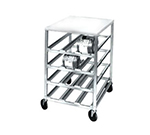 Channel CSR-3MP Mobile Can Storage Rack w/ 54-Can Capacity & Poly Work Top, Aluminum