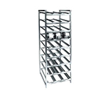 "Channel CSR-9 76"" Stationary Can Storage Rack w/ 162-Can Capacity, Aluminum"