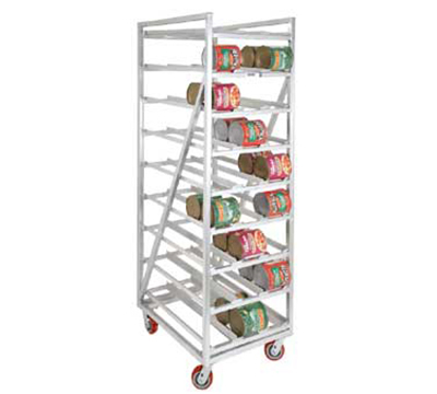 Channel CSR-99M Mobile Can Storage Rack w/ 162-Can Capacity, Aluminum