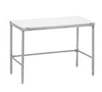 "Channel CT272 72"" Poly Top Work Table w/  3/4"" Top, Stainless Base, 24""D"