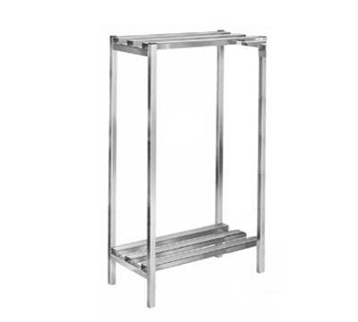 Channel DR334-2 Dunnage Shelving w/ 52.5-in Spacing, 60x24-in, Aluminum