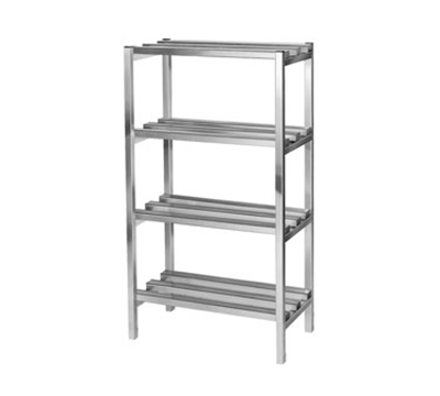 Channel DR331-4 Dunnage Shelving w/ 16.5-in Spacing, 72x20-in, Aluminum