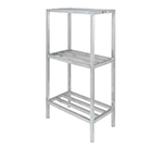 Channel ED333-3 Tubular Dunnage Shelving w/ 3-Shelf & 26-in Spacing, 48x24-in, Aluminum