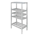 Channel ED334-4 Tubular Dunnage Shelving w/ 4-Shelf & 16.5 Spacing, 60x24-in, Aluminum