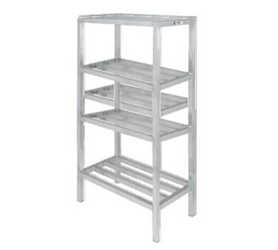 "Channel ED331-4 Tubular Dunnage Shelving w/ 4-Shelf & 16.5 Spacing, 72x20"", Aluminum"
