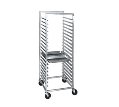 "Channel ETPR-5S Side Loading Steamtable Pan Rack w/ 22-Pan Capacity & 5"" Spacing, Aluminum"