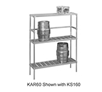 Channel KAR93 Storage Rack w/ 10-Keg Capacity, Aluminum