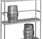 "Channel KS193 93"" Back Stop for Keg Storage Rack"
