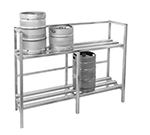 "Channel KSR72 Storage Rack w/ 8-Keg Capacity for 71.5"" X20"" Keg, Aluminum"