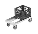 "Channel MC1338 Double Stack Milk Crate Dolly, 13x19"", Aluminum"