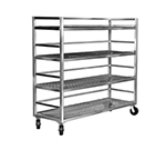 "Channel MC2472-3 Mobile Shelf Truck w/ 3-Shelf & 24"" Spacing, Aluminum"