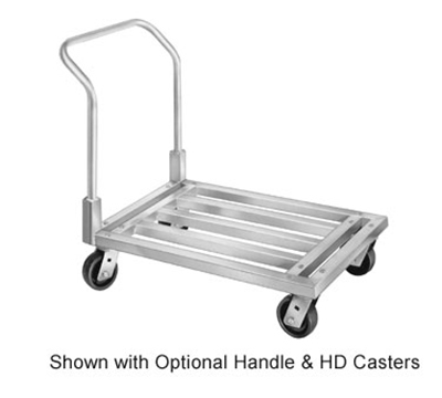 "Channel MD2060CA Tubular Dunnage Dolly, Mobile, 20x60"", Aluminum"
