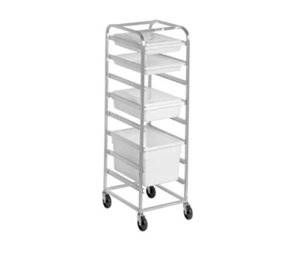 Channel PBA707 64-in Poly Box Rack w/ 7.5-in Spacing & 7-Level, Aluminum