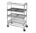 Channel SM-4 4-Level Aluminum Utility Cart w/ Flat Ledges