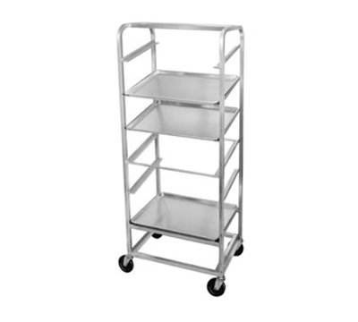 "Channel SRS-7 Slanted Display Rack w/ 7-Tray Capacity & 8.75"" Spacing, Side Loading, Aluminum"