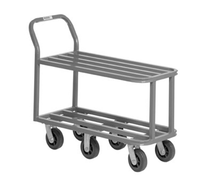 Channel STK18406 36-in Mobile Stocking Cart w/ 5-in Plate Caster, Plated Finish