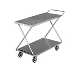 "Channel STKG400H 34"" Mobile Stocking Cart w/ Handle, Solid Bottom Shelf, 22x52"", Steel"