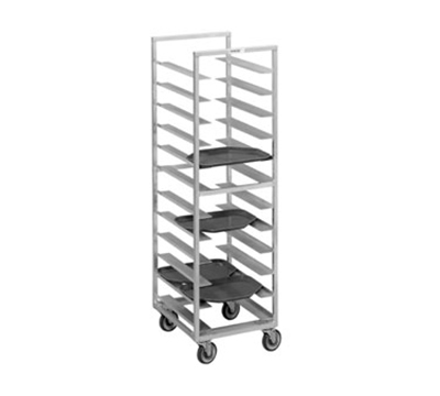 "Channel T446A Cafeteria Tray Rack w/ 30-Tray Capacity for 15x20"" Tray & 4"" Spacing, Aluminum"