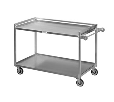 Channel TDC2953A-2 2-Level Aluminum Utility Cart w/ 1000-lb Capacity, Raised Ledges
