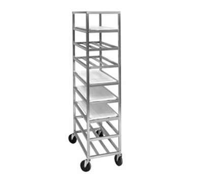 "Channel UPR8 Universal Mobile Platter Rack w/ 8-Shelf & 6.75"" Spacing, Aluminum"