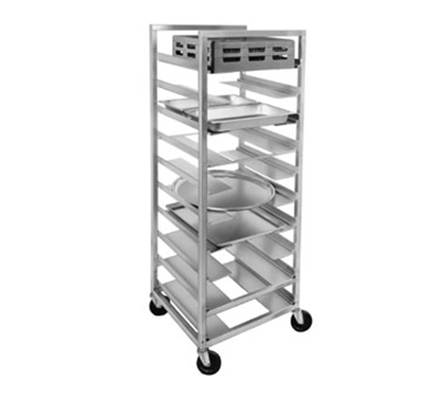 Channel UR-11 64-in Universal Mobile Rack w/ 5-in Spacing, Aluminum