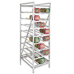 Channel CSR-99 Stationary Can Storage Rack w/ 162-Can Capacity, Aluminum