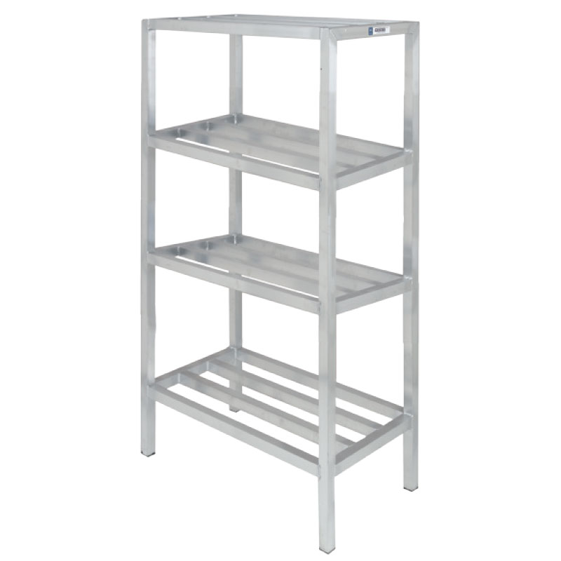 "Channel ED2454-4 54"" Stationary Dunnage Rack w/ 2200-lb Capacity, Aluminum"