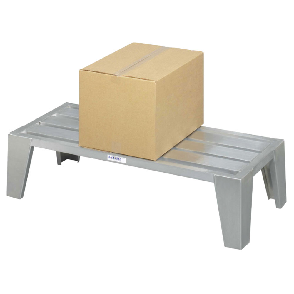 "Channel EXD2448 48"" Stationary Dunnage Rack w/ 3000-lb Capacity, Aluminum"