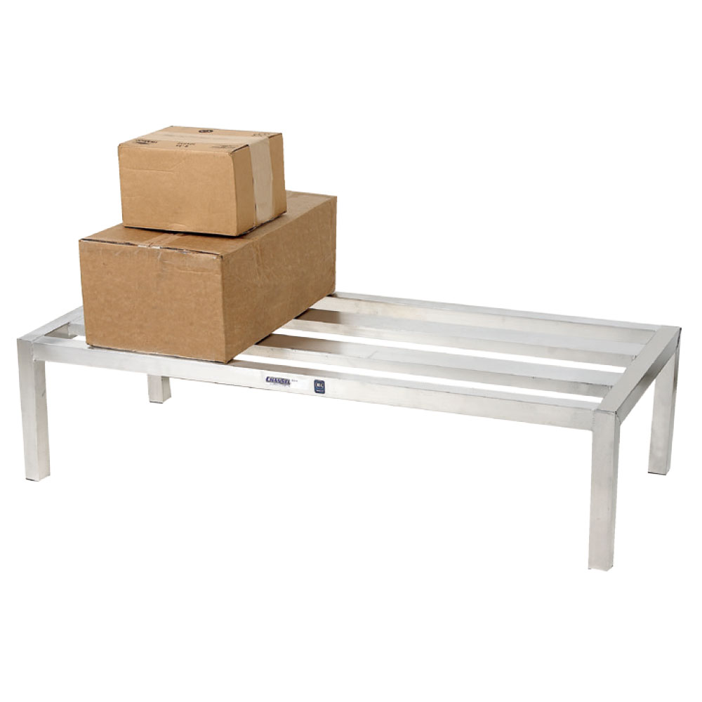 "Channel HD2448 48"" Stationary Dunnage Rack w/ 2500-lb Capacity, Aluminum"