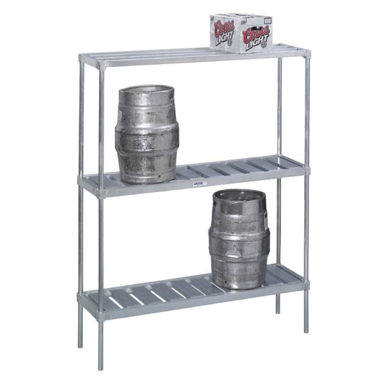 Channel KAR42 Storage Rack w/ 4-Keg Capacity & Adjustable Shelf, Aluminum