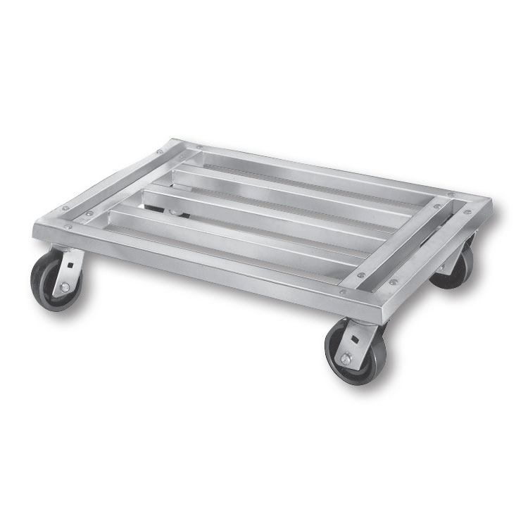 """Channel MD2036CA 36"""" Mobile Dunnage Rack w/ 1200-lb Capacity, Aluminum"""