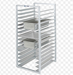 Channel RIUTR-4 Front Loading Rack w/ 4-Tray Capacity & 5-in Spacing, Aluminum