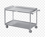 Channel TDC2937A-3 36-in Utility Tray Delivery Truck w/ 3-Shelf Capacity, 37x29-in, Aluminum