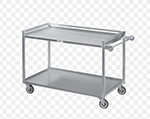 "Channel TDC2953A-3 36"" Utility Tray Delivery Truck w/ 3-Shelf Capacity, 53x29"", Aluminum"
