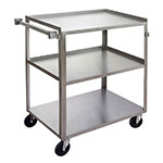 "Channel US1827-3 30.75"" Metal Bus Cart w/ (3) Levels, Stainless"