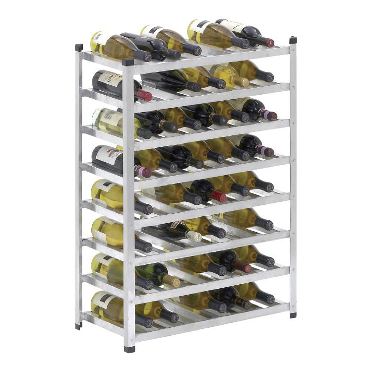 Channel WINKD861 Wine Rack w/ 8-Shelf, Aluminum
