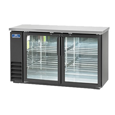 "Arctic Air ABB60G 61"" (2) Section Bar Refrigerator - Swinging Glass Doors, 115v"