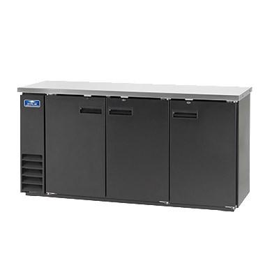 "Arctic Air ABB72 73"" (3) Section Bar Refrigerator - Swinging Solid Doors, 115v"